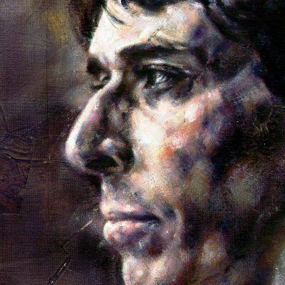 Portrait of John Cale (detail), co-founder of the Velvet Underground