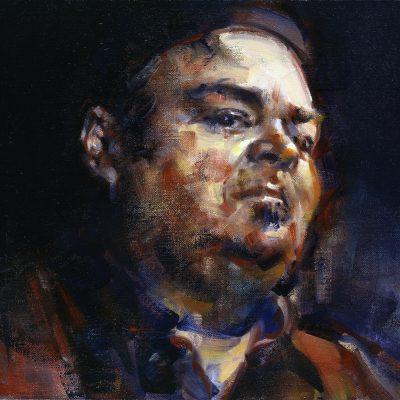 Portrait of David Thomas, Founder of avant-rock band Pere Ubu